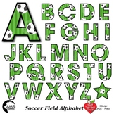 Soccer Letters Clipart, Football Alphabet Clipart, {Best T