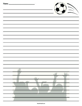 Soccer Lined Paper