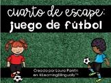 Soccer Math Escape Room in Spanish