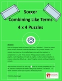 Soccer Math Puzzles - Combining Like Terms