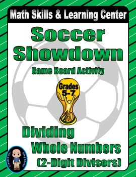 Soccer Math Skills & Learning Center (Division with 2-Digi