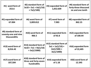 Soccer Math: Standard, Word, & Expanded Form