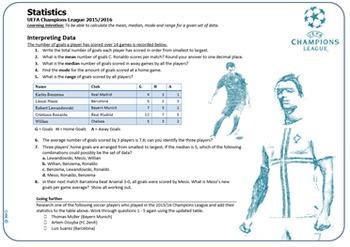 Soccer Maths Bundle