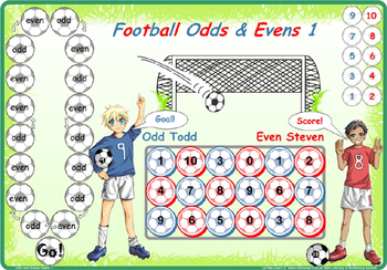 Soccer Maths Odds & Evens Games and more