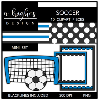 Soccer Mini Clipart Bundle {A Hughes Design}