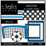 Soccer Mini Clipart Bundle {A Hughes Design}