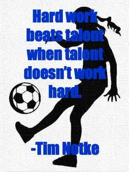 Soccer Motivational Poster