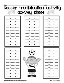 Soccer Multiplication Activity