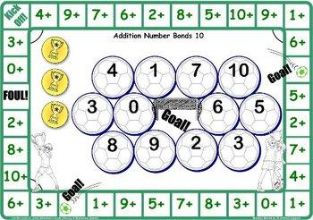 Soccer Number Bonds to 10