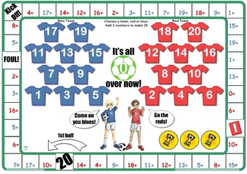 Soccer Number Facts to 20 Games
