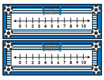 Soccer Number Lines 0-10 and 0-20