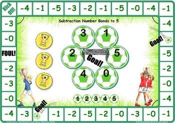 Soccer Number bonds to 5 Games