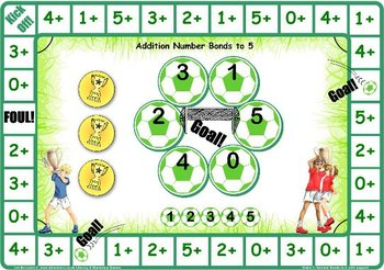 Soccer Number Facts to 5 Games