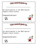 Soccer Olympics Awards