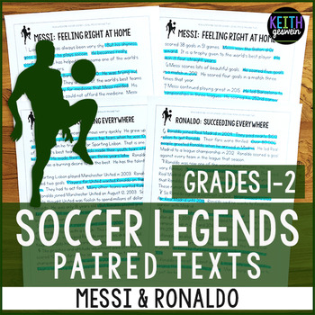 Soccer Paired Texts: Messi and Ronaldo (Grades 1-2)
