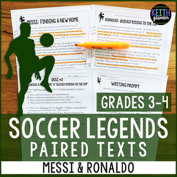 Soccer Paired Texts: Messi and Ronaldo (Grades 3-4)