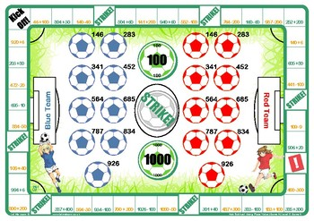 Soccer Place Value Game A