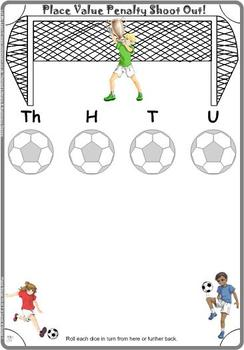 Soccer Place Value Games
