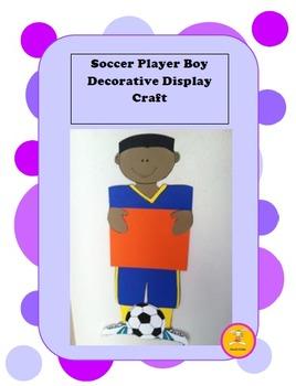 Soccer -Player Decorative Display Craft