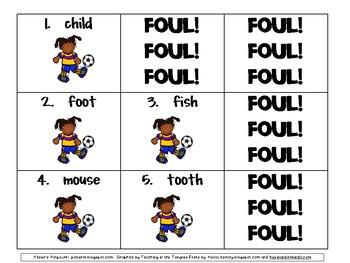 Soccer Plural Game FREEBIE