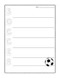 Soccer Poem - Acrostic Poetry Frame