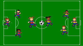 Soccer PowerPoint template - Create your own game! futbol or football in Europe