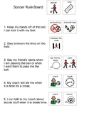 Soccer Rules Board