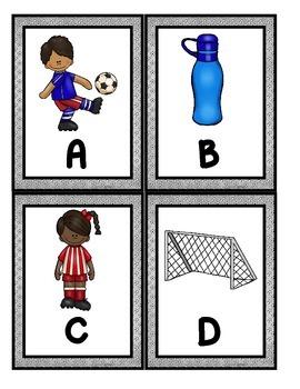 Soccer Scavenger Hunt: Uppercase and Lowercase Letters, Printables