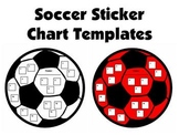Soccer Shaped Sticker Charts and Templates