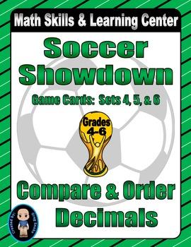 Soccer Showdown Game Cards (Compare & Order Decimals) Sets 4-5-6