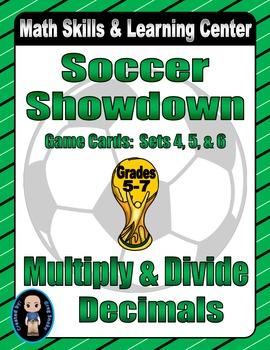 Soccer Showdown Game Cards (Multiply & Divide Decimals) Se