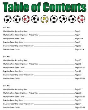 Soccer Showdown Game Cards (Multiply & Divide Fractions) Sets 4-5-6