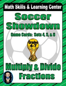 Soccer Showdown Game Cards (Multiply & Divide Fractions) S