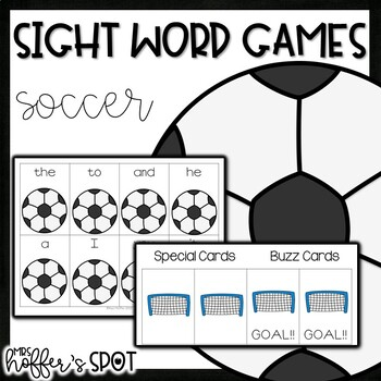 Soccer Sight Word Games