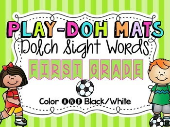 Soccer Sight Word Play Doh Mats {Dolch First Grade}