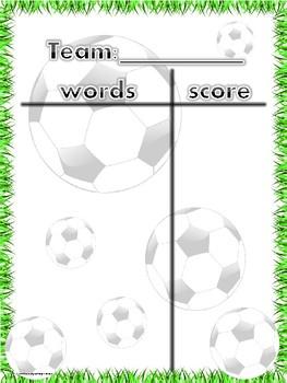 Soccer-Sight Words