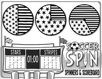 Soccer Spin - A Kindergarten Math Game of Probability, Predictions & Tally Marks