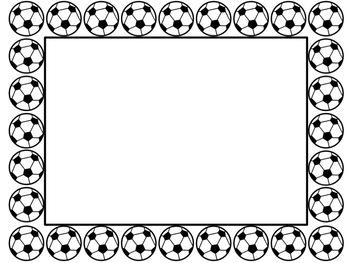 sports border teaching resources teachers pay teachers rh teacherspayteachers com  sports ball border clip art