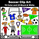 Soccer Theme Clipart, Sports Clip Art, Soccer Player Goal