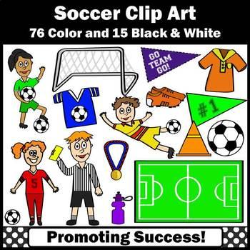 Soccer Clipart for Soccer Unit, Soccer Goal, Sports Clip A