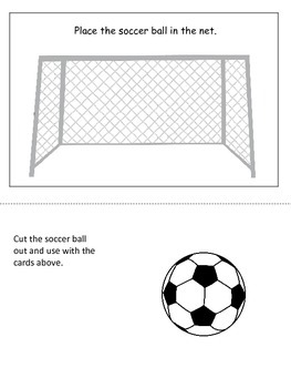 Soccer Sports themed Positional Cards preschool educationa