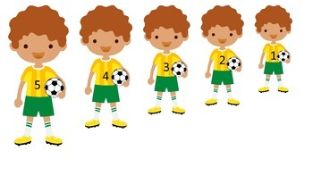 Soccer Sports themed Size Sequence preschool educational learning game.  Daycare