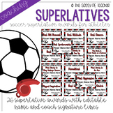 Soccer Superlative Awards - Maroon