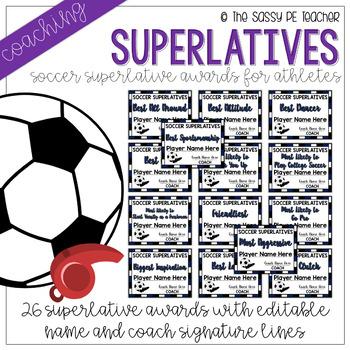 Soccer Superlative Awards - Navy