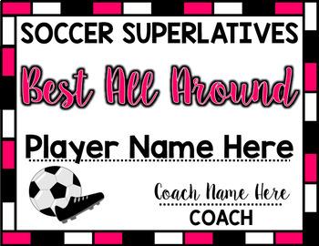 Soccer Superlative Awards - Pink
