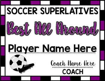 Soccer Superlative Awards - Purple
