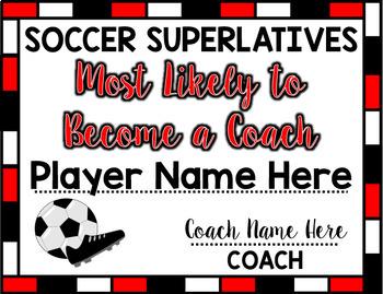 Soccer Superlative Awards - Red