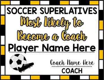 Soccer Superlative Awards - Yellow