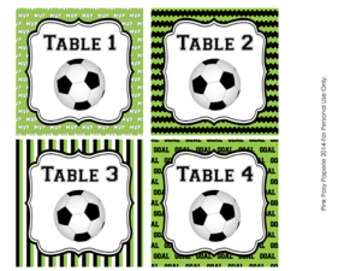 Soccer Table Numbers