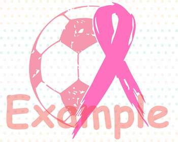 Soccer Tackle Breast Cancer Svg Awareness ribbon svg Play for a cure 1068s